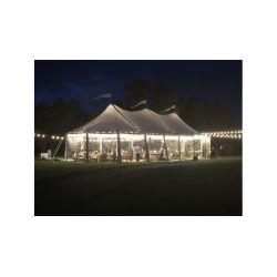 32x70 Woodgrain Sailcloth Style Tent