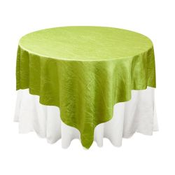 Apple Green Taffeta Overlay