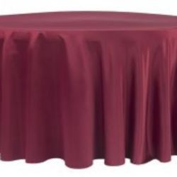 Apple Red Lamour Satin Tablecloth