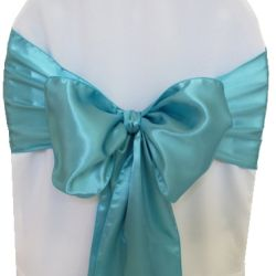 Aqua Blue Satin Sashes