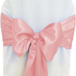 Baby Pink Satin Sashes