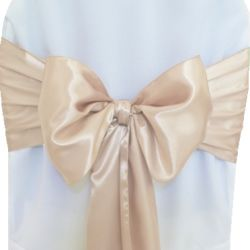 Beige Satin Sashes