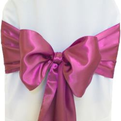 Berry Satin Sashes