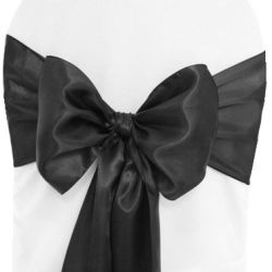 Black Satin Sashes
