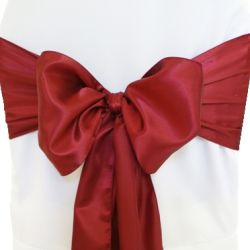 Burgundy Satin Sashes