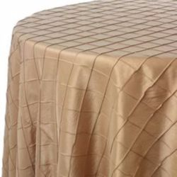 Champagne Pintuck Tablecloth
