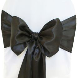 Charcoal Satin Sashes