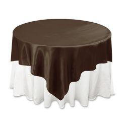 Chocolate Satin Overlay