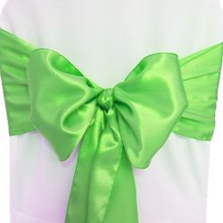 Clover Green Satin Sashes
