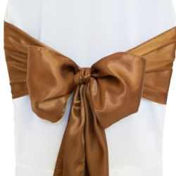 Copper Satin Sashes