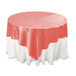 Coral Satin Overlay