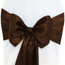 Dark Brown Satin Sashes