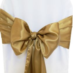 Dark Gold Satin Sashes