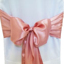 Dusty Rose Satin Sashes