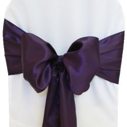 Eggplant Satin Sashes