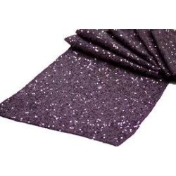 Eggplant Sequin Table Runner