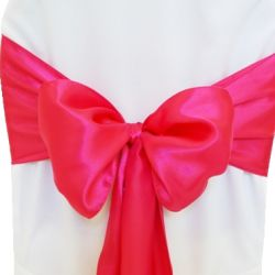 Fuchsia Satin Sashes