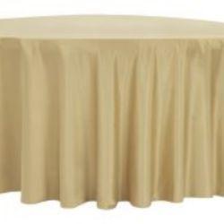 Gold Lamour Satin Tablecloth