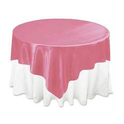 Hot Pink Satin Overlay