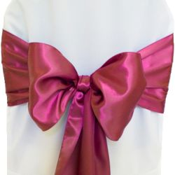 Hot Pink Satin Sashes