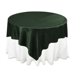 Hunter Green Satin Overlay
