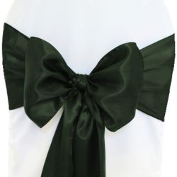 Hunter Green Satin Sashes