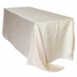 Ivory Pintuck Rectangle Tablecloth