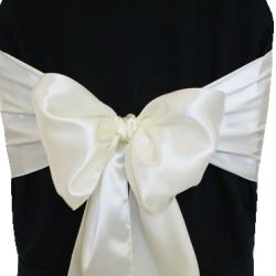 Ivory Satin Sashes