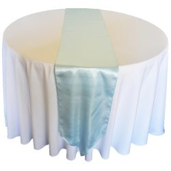 Light Blue Satin Runner