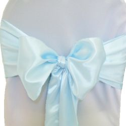 Light Blue Satin Sashes