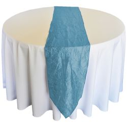 Light Blue Taffeta Runner