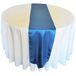 Light Navy Blue Satin Runner