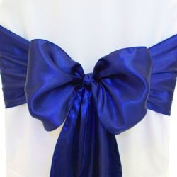 Light Navy Blue Satin Sashes