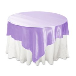 Lilac Satin Overlay