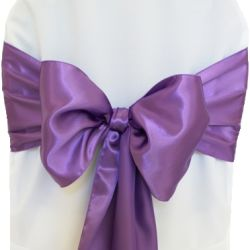 Lilac Satin Sashes