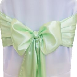 Mint Green Satin Sashes