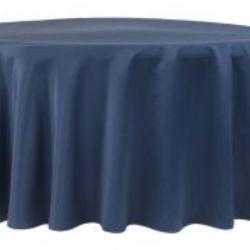 Navy Blue Lamour Satin Tablecloth