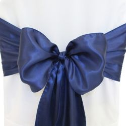 Navy Blue Satin Sashes