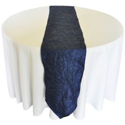 Navy Blue Taffeta Runner