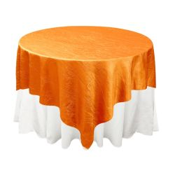 Orange Taffeta Overlay