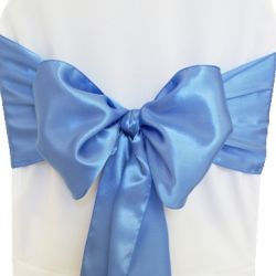 Periwinkle Satin Sashes