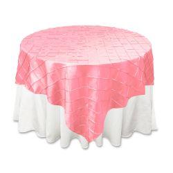 Pink Pintuck Overlay