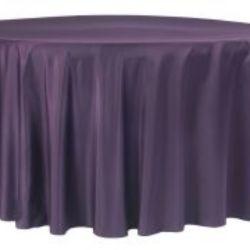 Plum Lamour Satin Tablecloth