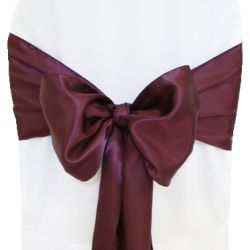 Plum Satin Sashes