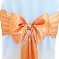 Pumpkin Satin Sashes