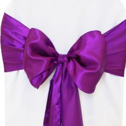 Purple Satin Sashes