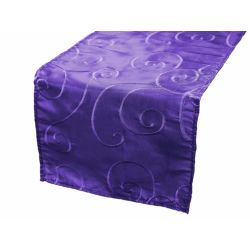Purple Satin Swirl Runner