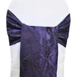 Purple Taffeta Sashes