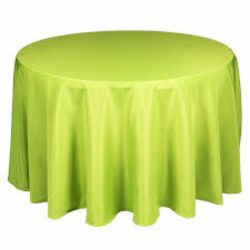 Round Apple Green Tablecloth