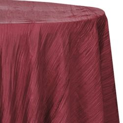 Round Burgundy Accordion Table Cloth